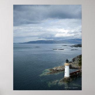 Lighthouse, Eilean Ban, Inner Sound, Scotland, Poster