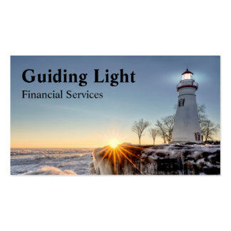 Lighthouse Financial Service Pack Of Standard Business Cards