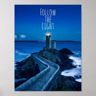 Lighthouse Follow the Light Poster