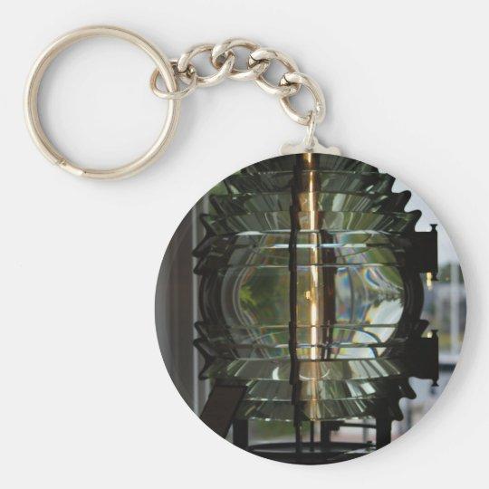 Lighthouse Fresnel Lens Basic Round Button Key Ring