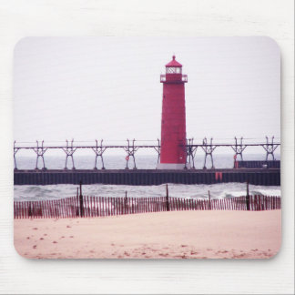 LIGHTHOUSE - Grand Haven, Michigan Mouse Pad