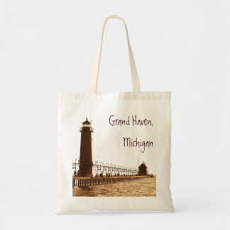 lighthouse, Grand Haven, Michigan Tote Bag