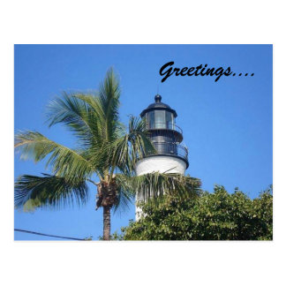 lighthouse, Greetings.... Postcard