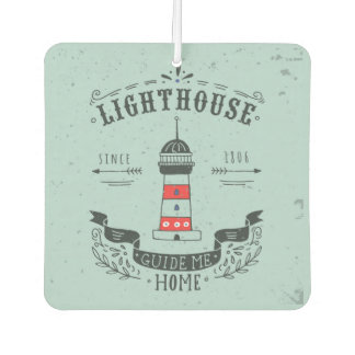 Lighthouse Guide Me Home Poster Car Air Freshener