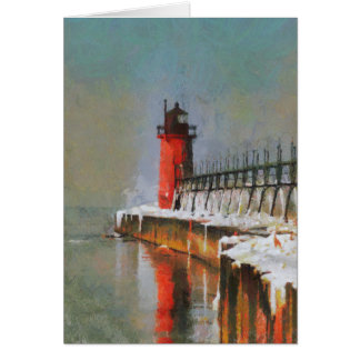 Lighthouse House Greeting Card