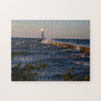 Lighthouse in a Tempestuous Sea Jigsaw Puzzle