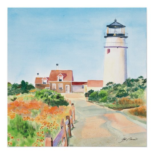 Lighthouse in Cape Cod Poster