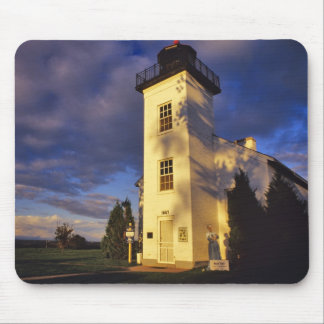 Lighthouse in Escanaba UP Michigan Mouse Mat