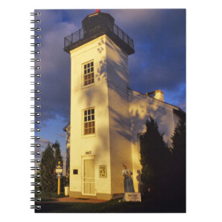 Lighthouse in Escanaba UP Michigan Spiral Note Books
