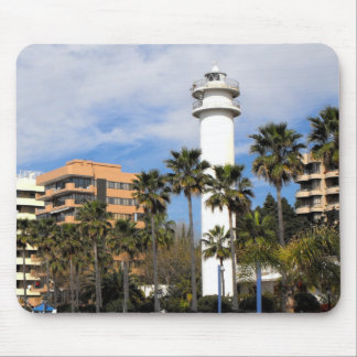 Lighthouse in Marbella, Spain Mouse Pad
