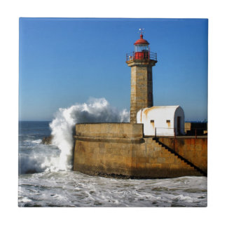 Lighthouse in Porto Tile