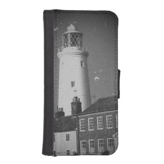 Lighthouse in sunny seaside English town photo