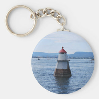 lighthouse in the sea key ring