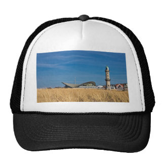 Lighthouse in Warnemuende Germany Trucker Hat