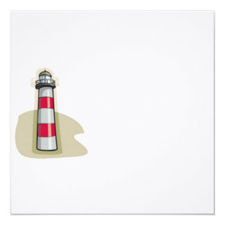Lighthouse 5.25x5.25 Square Paper Invitation Card