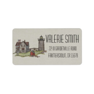 Lighthouse & Keepers House Address Label