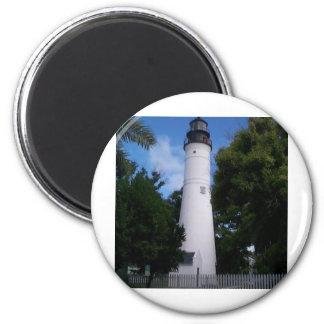lighthouse_keywest 6 cm round magnet