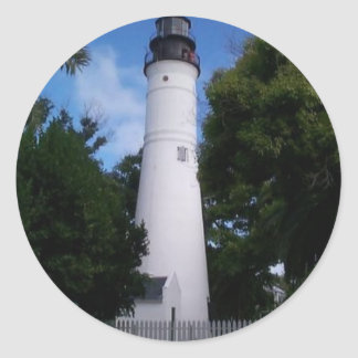 lighthouse_keywest classic round sticker
