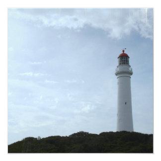 """Lighthouse Ledge Invitations 5.25"""" Square Invitation Card"""