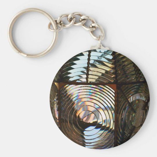 Lighthouse Light Basic Round Button Key Ring