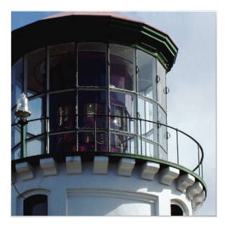 "Lighthouse Light Invitations 5.25"" Square Invitation Card"