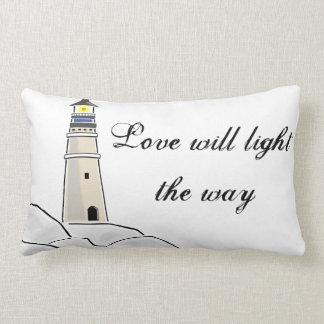 Lighthouse Love Throw Pillow