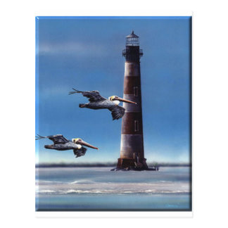 Lighthouse Morris Island Postcard
