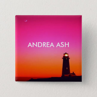 LIGHTHOUSE NAME TAG 15 CM SQUARE BADGE