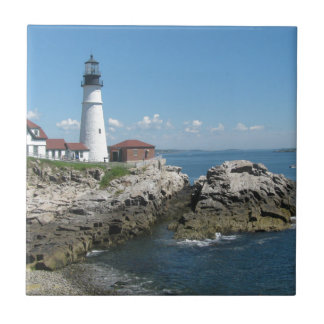 Lighthouse Of Bar Harbor Tile