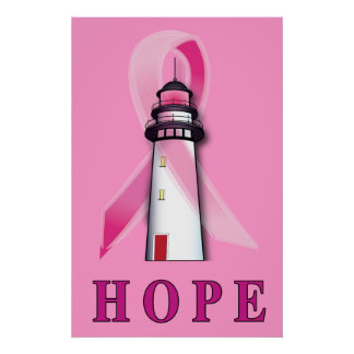 Lighthouse of Hope Cure for Breast Cancer Poster