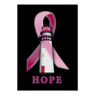 Lighthouse of Hope for a Cure for Breast Cancer Poster