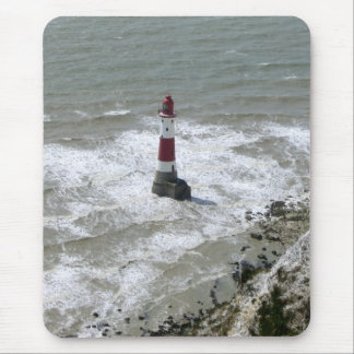 Lighthouse off Beachy Head, East Sussex Mouse Pad