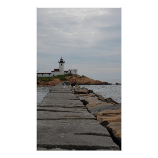 Lighthouse on a cloudy day print