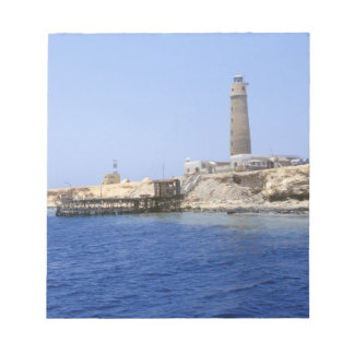 Lighthouse on Brother Islands, Red Sea, Egypt Notepad