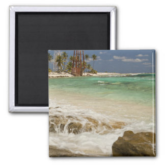 Lighthouse on Half Moon Caye Natural Monument 2 Square Magnet