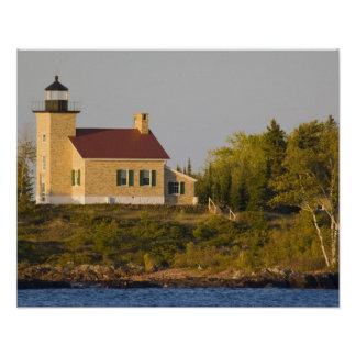 Lighthouse on Lake Superior near Copper Harbor Poster