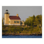 Lighthouse on Lake Superior near Copper Harbour Poster