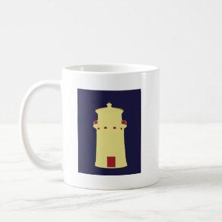 Lighthouse on navy blue. mugs