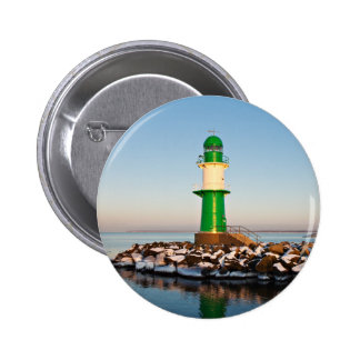 Lighthouse on the Baltic Sea coast Button