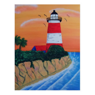 Lighthouse on the Seaside Postcard