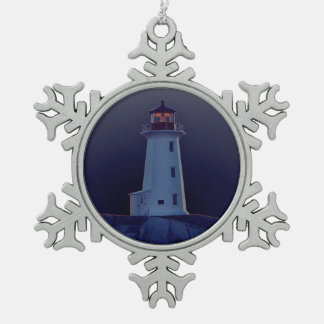 Lighthouse ornament Peggy's Cove Nova Scotia blue