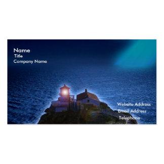 Lighthouse over the ocean digital business card