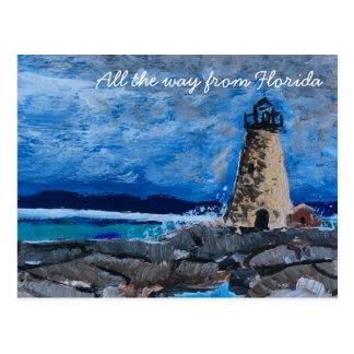 Lighthouse Painting Postcard