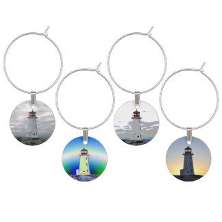 Lighthouse Peggy's Cove N.S. Custom Wine Charms