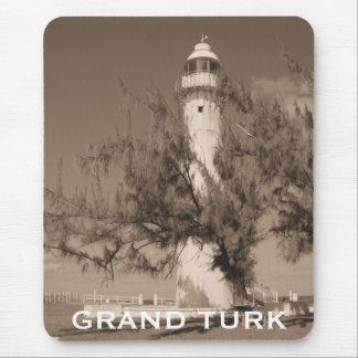 Lighthouse Photo Grand Turk Caribbean Island Mouse Mat