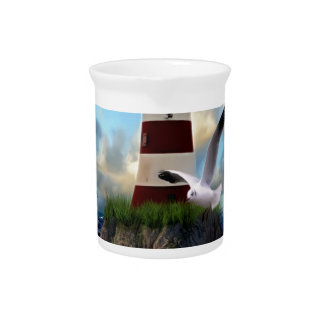 Lighthouse Pitcher