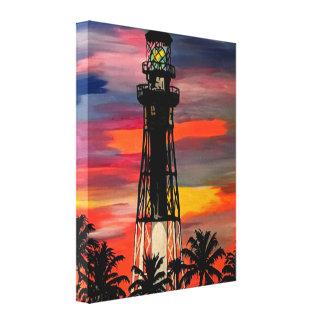 'Lighthouse Point FL, Lighthouse Pop!' painting on Canvas Print