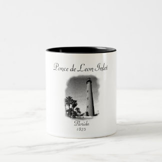 Lighthouse- Ponce de Leon Inlet, Florida Two-Tone Mug