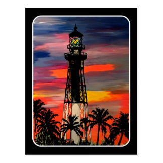 'Lighthouse Pop!' painting on a Postcard