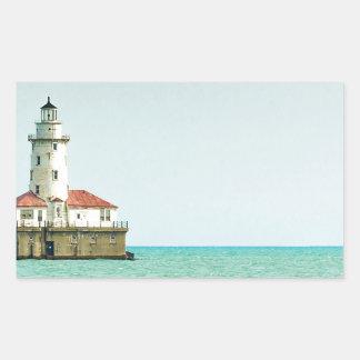lighthouse rectangular sticker